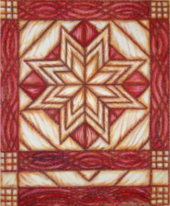 Trapunto Star by Helen R Klebesadel