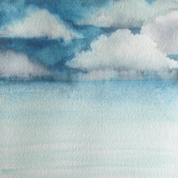 Lake Michigan III an original watercolor by Helen R Klebesadel