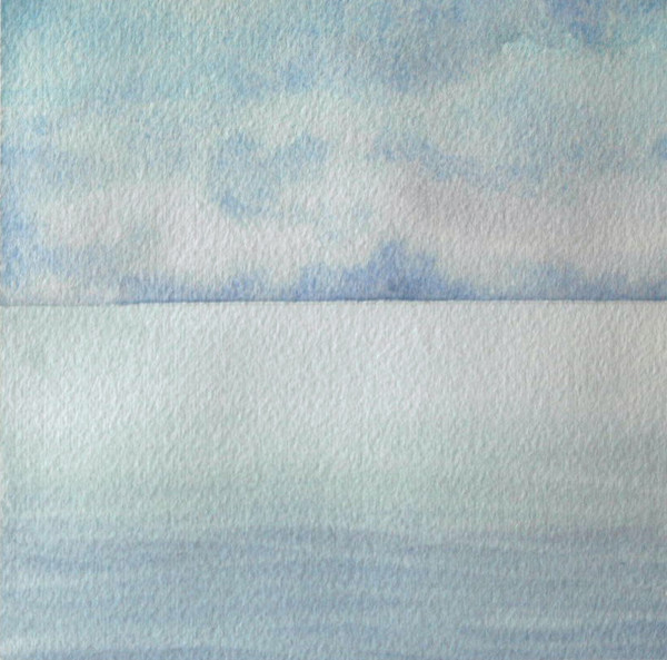 Lake Michigan II an original watercolor by Helen R Klebesadel