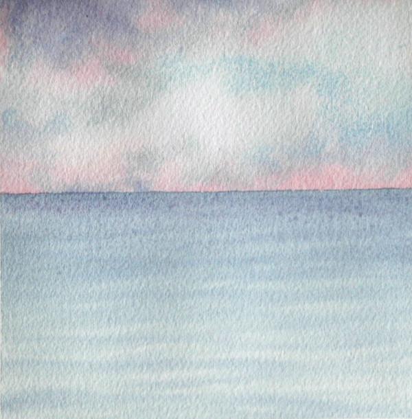 Lake Michigan I an original watercolor by Helen R Klebesadel