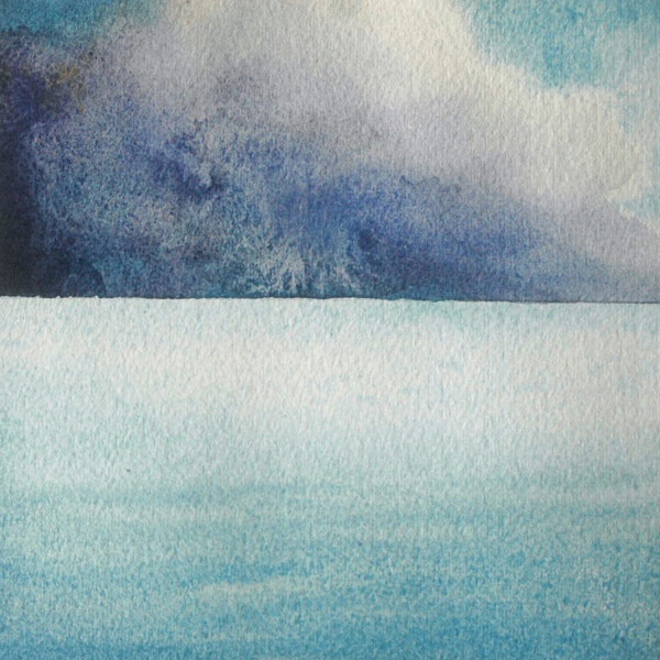 Lake Michigan VIII an original watercolor by Helen R Klebesadel