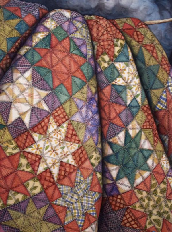 Nine Square Quilt by Helen R Klebesadel