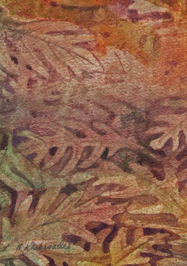 Oak Leaves VIII an original watercolor by Helen R Klebesadel