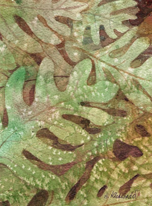 Oak Leaves VI an original watercolor by Helen R Klebesadel
