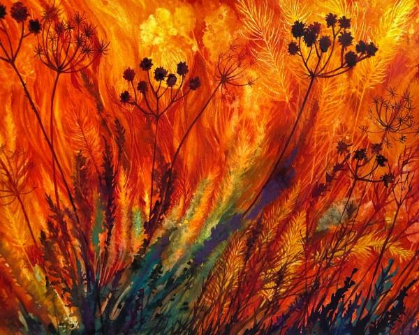 Prairie Fire: Transformation Study II by Helen R Klebesadel