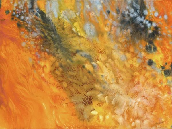 Prairie Fire:  Spring Restoration III by Helen R Klebesadel