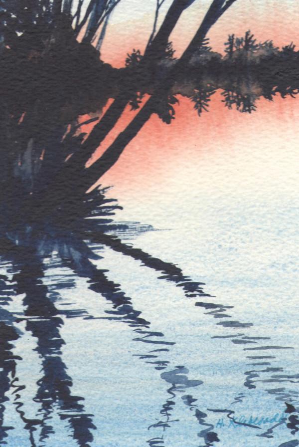 Reflection III an original watercolor by Helen R Klebesadel