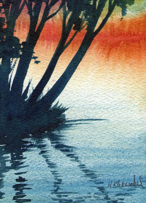 Reflection II an original watercolor by Helen R Klebesadel