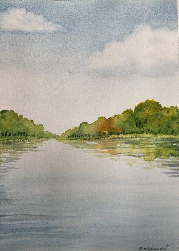 River Study II by Helen R Klebesadel