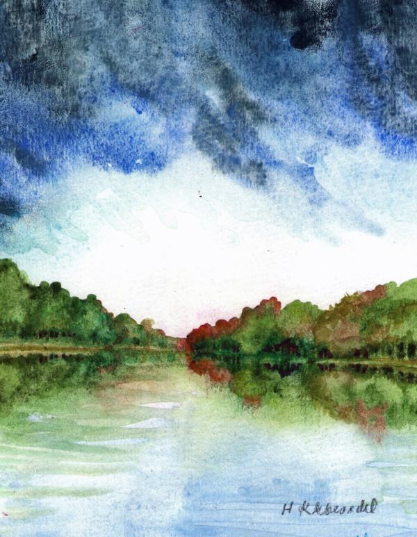 River Study an original watercolor by Helen R Klebesadel