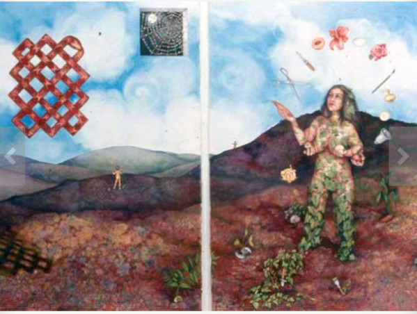 Social Patterns:  ReVision I & II, diptych by Helen R Klebesadel