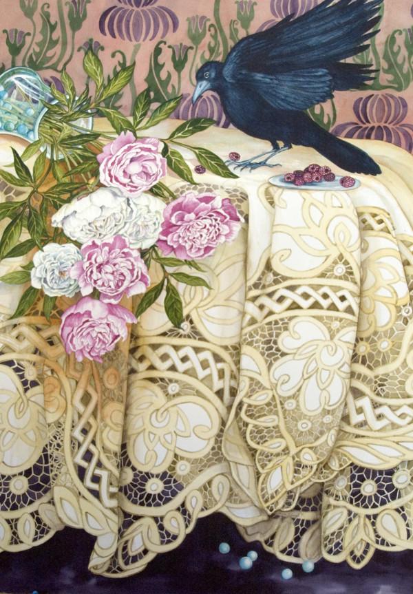 Crow Spill by Helen Klebesadel