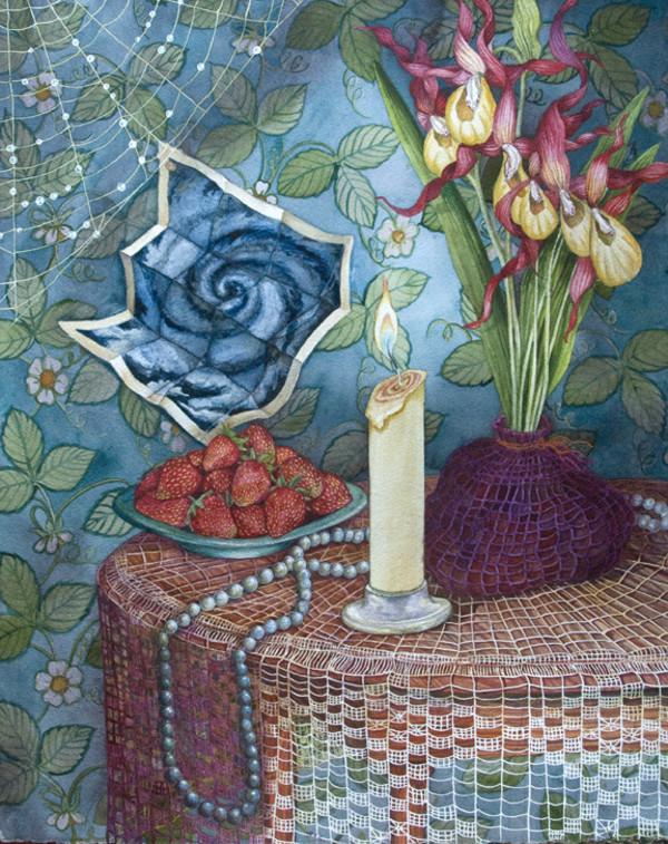 Spiral Still Life by Helen R Klebesadel