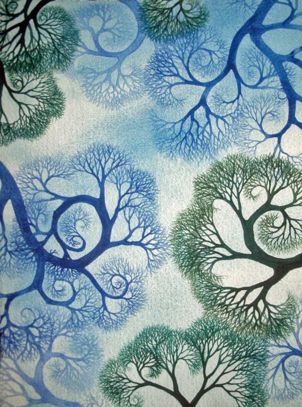 Spiral Branches Study II  by Helen R Klebesadel