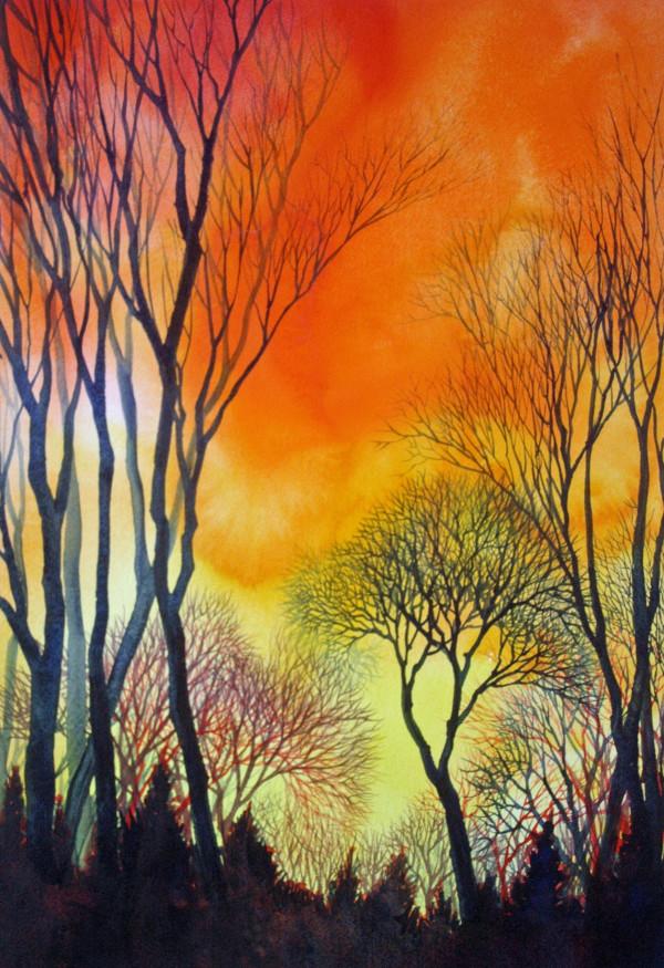 Sunset Lace V by Helen R Klebesadel