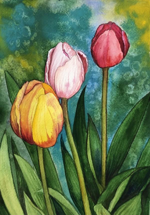 Tulips III by Helen R Klebesadel