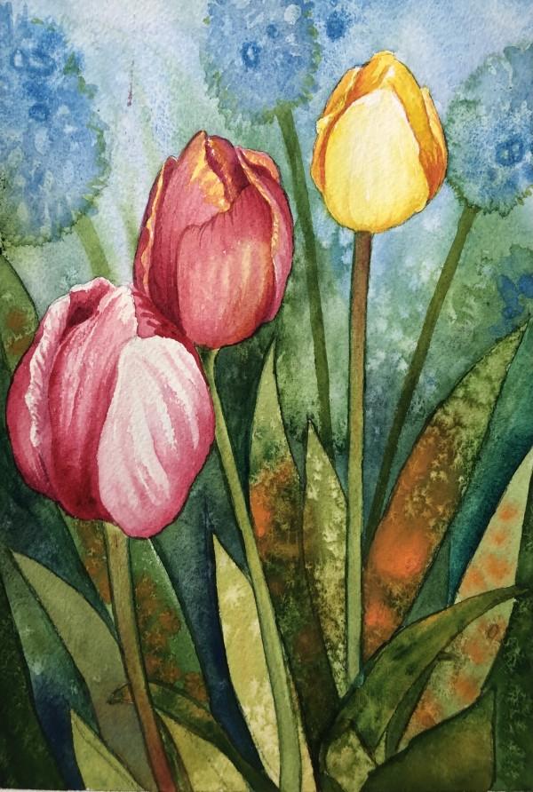 Tulips I by Helen R Klebesadel
