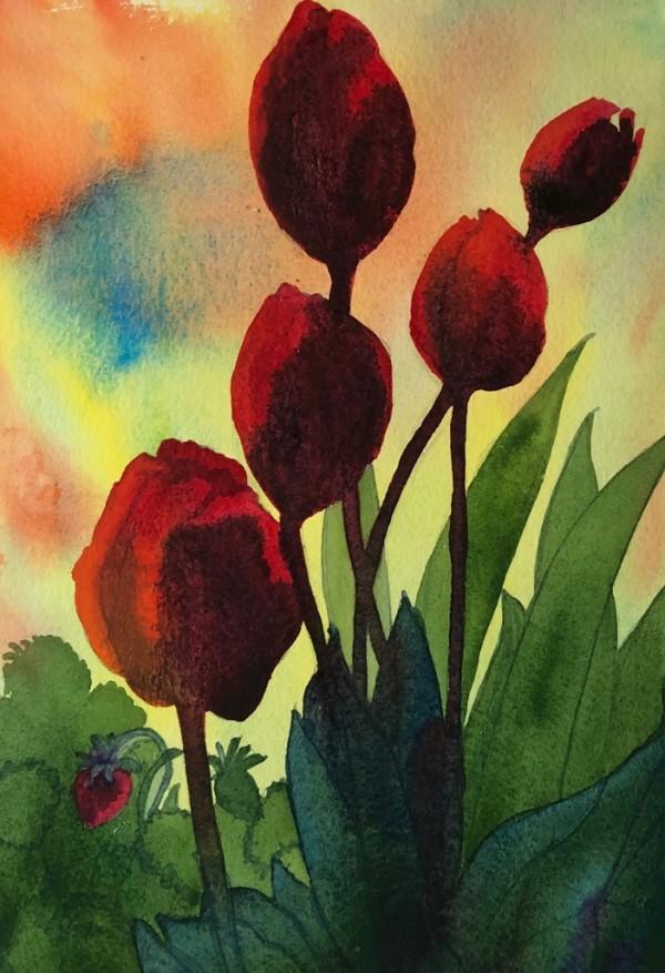 Tulips VI by Helen R Klebesadel