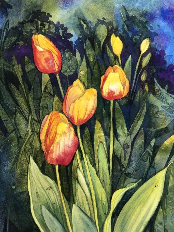 Tulips V by Helen R Klebesadel