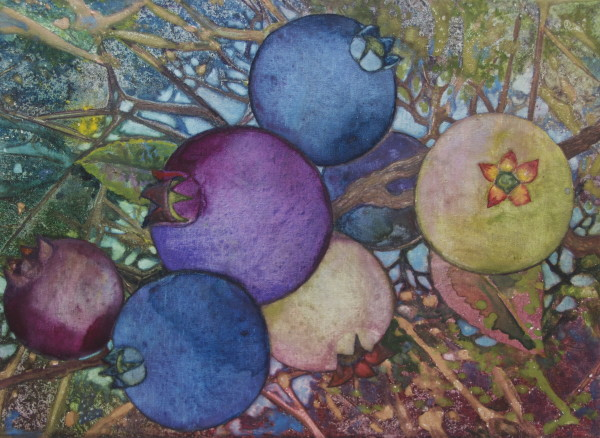 Wild Blueberries III by Helen R Klebesadel