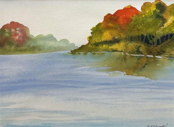 Wisconsin River Study I by Helen R Klebesadel