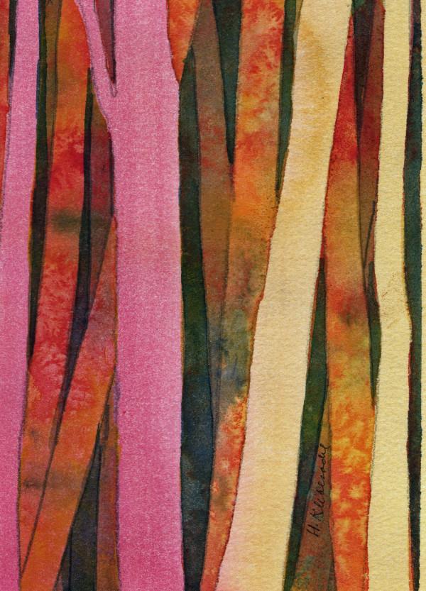 Woods II an original watercolor by Helen R Klebesadel