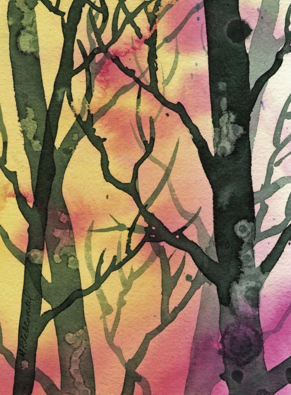 Woods I an original watercolor by Helen R Klebesadel