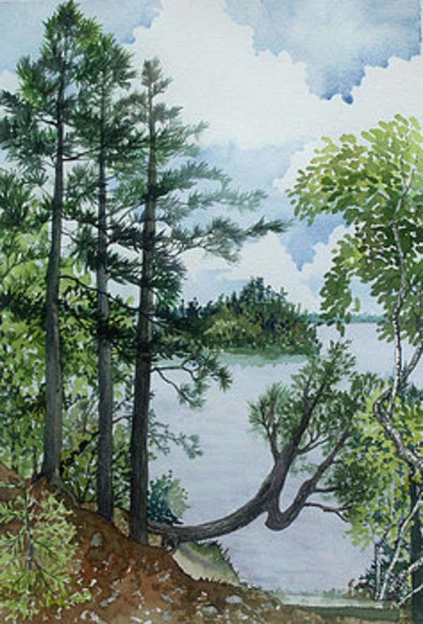 Cathedral Point - Trout Lake by Helen R Klebesadel
