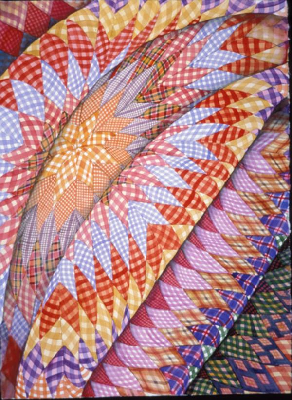 Gingham Quilt by Helen R Klebesadel