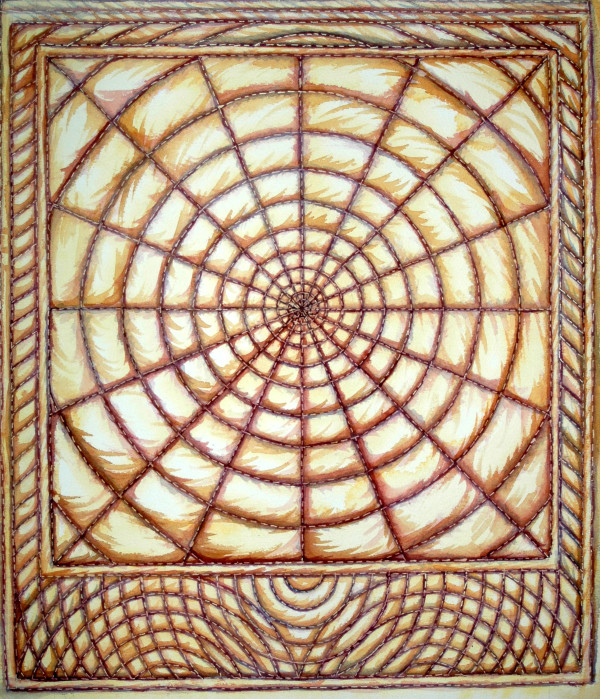 Trapunto Circle by Helen R Klebesadel