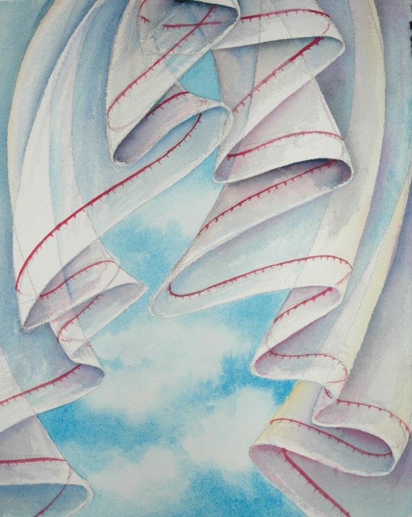 Window Curtain IV by Helen R Klebesadel