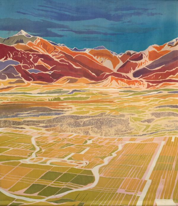 Tres Acres Vineyard by Mary Edna Fraser