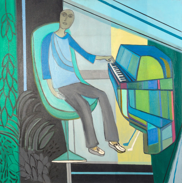 PIANO MAN (2015) by Caley O'Dwyer