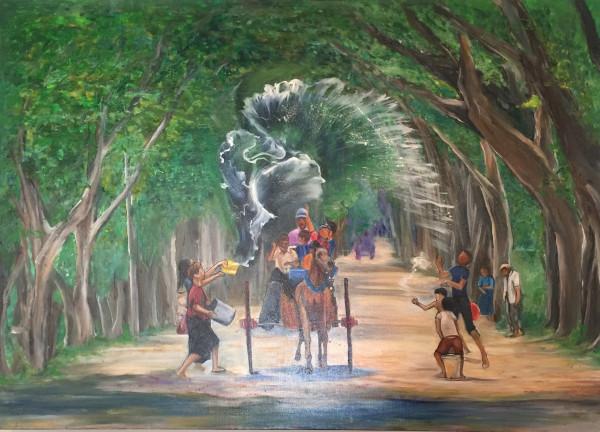 Water Festival Myanmar by Yolanda Velasquez