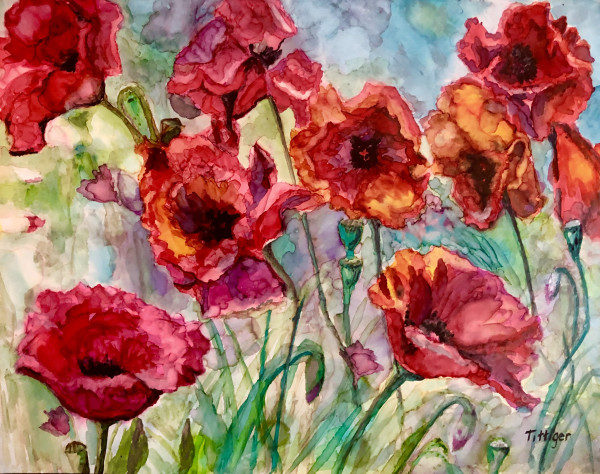 BEAUTIFUL POPPIES by Colleen Tittiger
