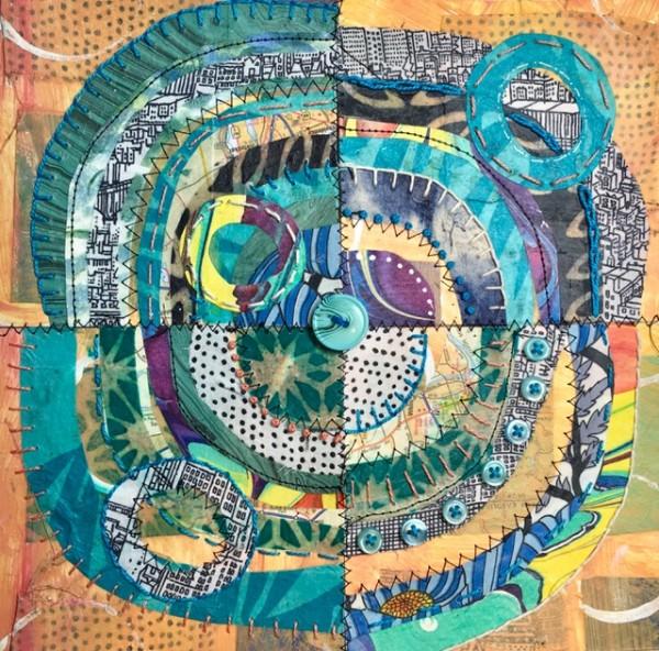 Hawaiian Shirt ~ Recycled Circles by Jane LaFazio