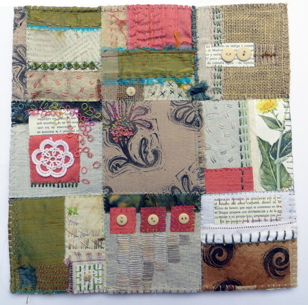 Garden Patch: Coral and Green by Jane LaFazio