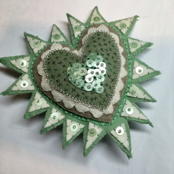 milagros green and white by Jane LaFazio