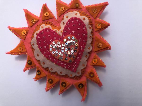 milagros ~Pink and orange by Jane LaFazio