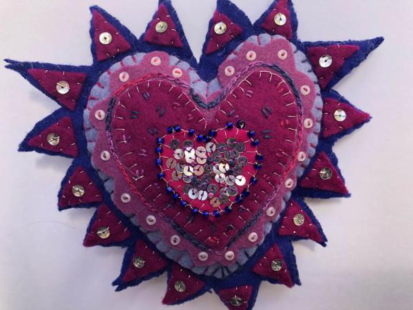 Milagro (red, purple, blue) by Jane LaFazio