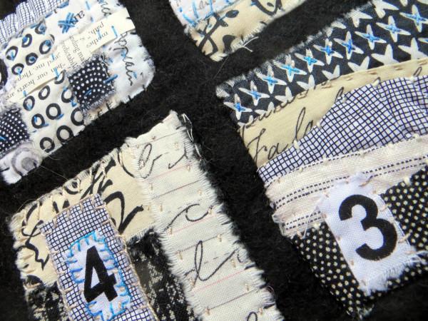 It's Not Always Black and White ~ text on textiles mini by Jane LaFazio