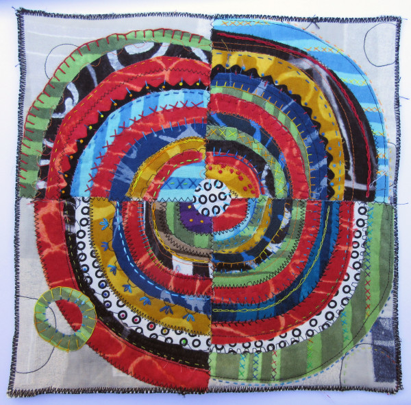 Recycled Circles ~ one green circle by Jane LaFazio