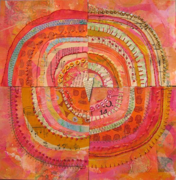 recycled circles: pink by Jane LaFazio