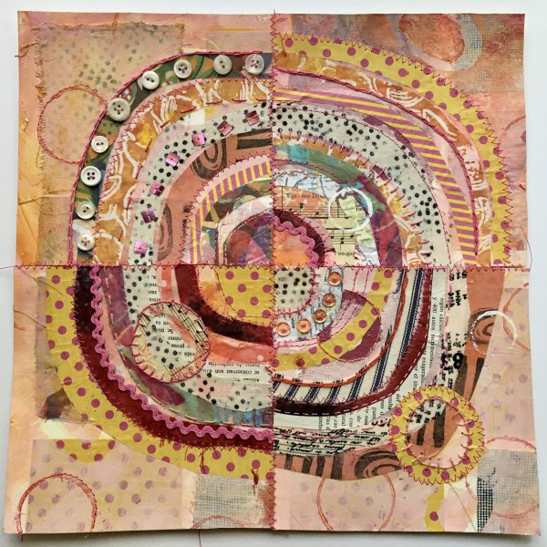 Pink Coral ~ Recycled Circles by Jane LaFazio