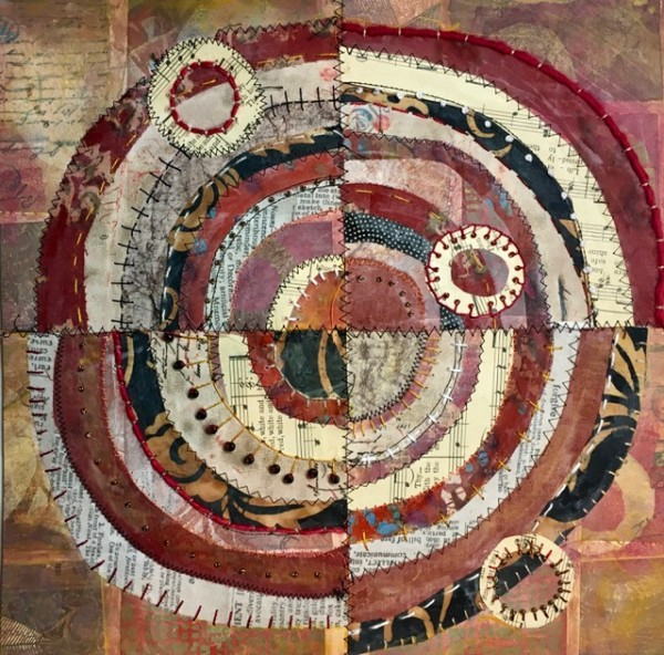Rosewood ~ Recycled Circles by Jane LaFazio