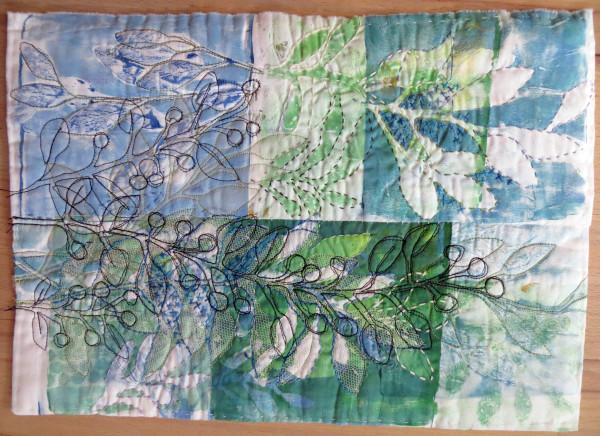 Blue Leaf Bramble by Jane LaFazio