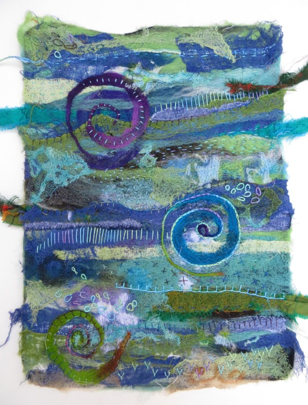 Evidence of Fossils ~ needle felted by Jane LaFazio