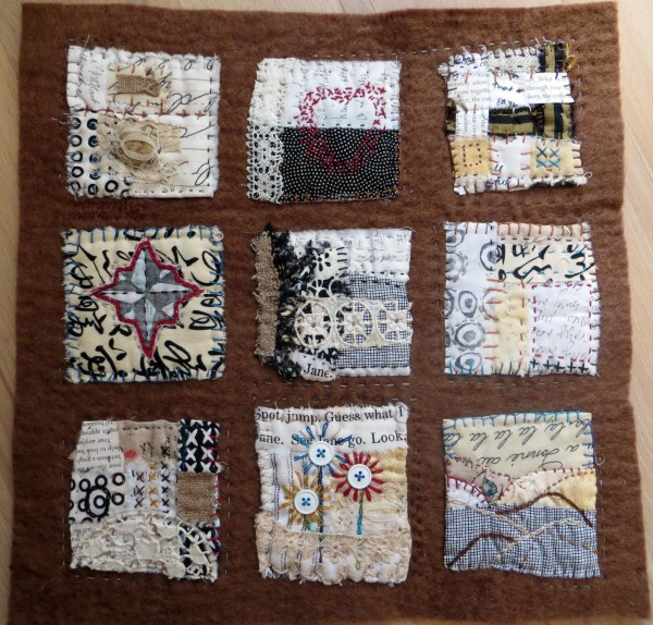 Text on Textiles: Go West  by Jane LaFazio