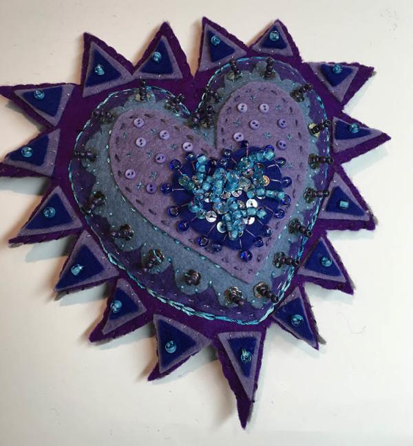 Milagro ~ blue, purple & turquoise by Jane LaFazio