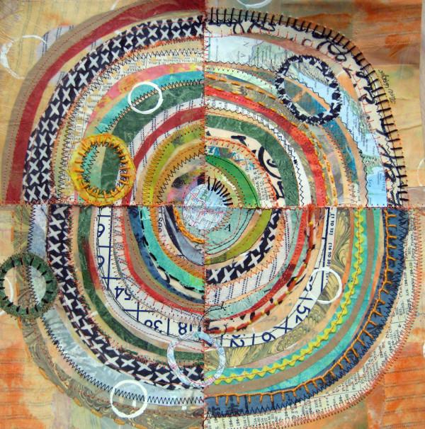 Recycled Circles: orange bingo  by Jane LaFazio
